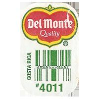 Del Monte Quality # 4011  0 x 0 mm paper 2017 ML Costa Rica unique