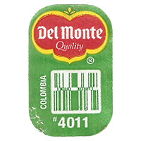 Del Monte Quality # 4011  0 x 0 mm paper 2018 J Colombia unique