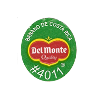 Del Monte Quality BANANO DE COSTA RICA #4011  22 x 25,1 mm paper before 2012 Costa Rica unique