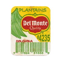Del Monte Quality PLANTAINS #4235  25,5 x 31,5 mm paper before 2012 AA Colombia unique