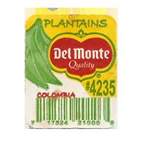 Del Monte Quality PLANTAINS #4235  25,5 x 31,5 mm paper before 2012 AA Colombia unique