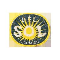 DEL SOL  26,7 x 22,1 mm paper before 2012  Ecuador unique