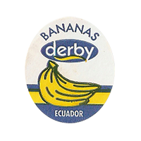 derby  BANANAS  25 x 29,4 mm paper 2012 KČ Ecuador unique