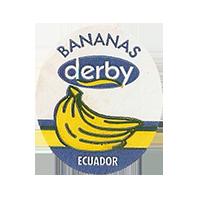 derby  BANANAS  25 x 29,4 mm paper 2012 KČ Ecuador unique