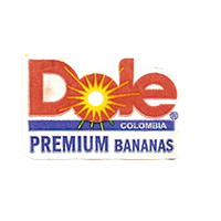 Dole PREMIUM BANANAS  28,6 x 18,8 mm paper before 2012 Colombia unique