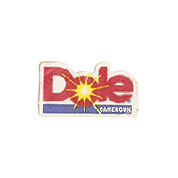 Dole  21,6 x 12 mm paper before 2012 Cameroun unique
