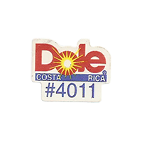 Dole #4011  21,7 x 17 mm paper before 2012 Costa Rica unique