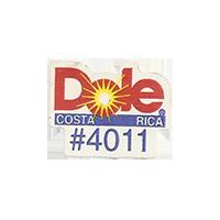 Dole #4011  21,7 x 17 mm paper before 2012 Costa Rica unique