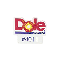 Dole #4011  21,4 x 17,1 mm paper before 2012 Costa Rica unique