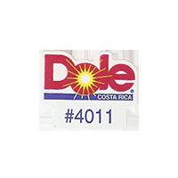 Dole #4011  21,4 x 17,1 mm paper before 2012 Costa Rica unique