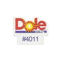 Dole #4011  22,1 x 17,3 mm paper before 2012 Guatemala unique