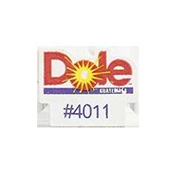 Dole #4011  22,1 x 17,3 mm paper before 2012 Guatemala unique