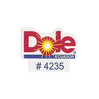 Dole #4235  22,2 x 17,5 mm paper before 2012 Ecuador unique