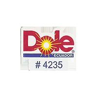 Dole #4235  22,2 x 17,5 mm paper before 2012 Ecuador unique