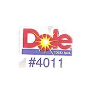 Dole #4011  21,6 x 17,1 mm paper before 2012 Costa Rica unique