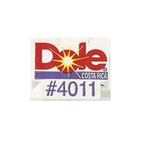 Dole #4011  21,7 x 17,1 mm paper before 2012 Costa Rica unique