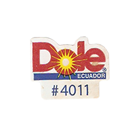 Dole #4011  22,1 x 17,5 mm paper before 2012 Ecuador unique
