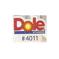 Dole #4011  22,1 x 17,5 mm paper before 2012 Ecuador unique