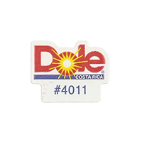 Dole #4011  21,5 x 17 mm paper before 2012 Costa Rica unique
