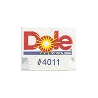 Dole #4011  21,5 x 17 mm paper before 2012 Costa Rica unique