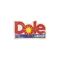 Dole  12,2 x 21,3 mm paper before 2012 Cameroun unique