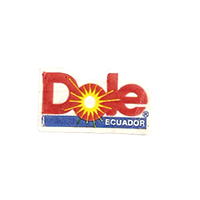 Dole  22 x 12,8 mm paper before 2009 J Ecuador unique