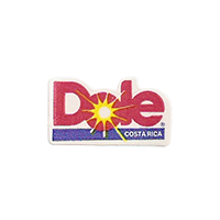 Dole  11,9 x 22 mm paper before 2012 Costa Rica unique