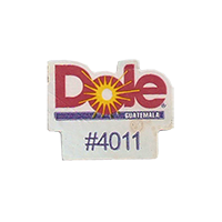 Dole #4011  17,5 x 22,1 mm paper before 2012 Guatemala unique