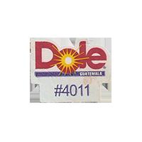 Dole #4011  17,5 x 22,1 mm paper before 2012 Guatemala unique
