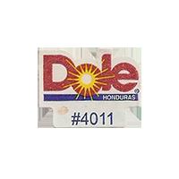 Dole #4011  17 x 22,1 mm paper before 2012 Honduras unique