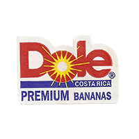 Dole PREMIUM BANANAS  28,4 x 19 mm paper before 2012 Costa Rica unique