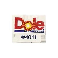 Dole #4011  17,6 x 22,3 mm paper 2012 DK Ecuador unique