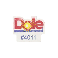 Dole #4011  17,1 x 21,7 mm paper before 2012 AA Costa Rica unique