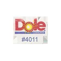 Dole #4011  17,1 x 21,7 mm paper before 2012 AA Costa Rica unique