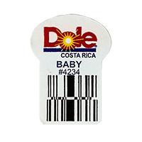 Dole  BABY #4234  22,2 x 30,1 mm paper before 2012 Costa Rica unique