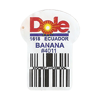 Dole  1618 BANANA # 4011   22,2 x 29,8 mm paper 2016 PM Ecuador unique