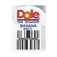 Dole  1618 BANANA # 4011   22,2 x 29,8 mm paper 2016 PM Ecuador unique