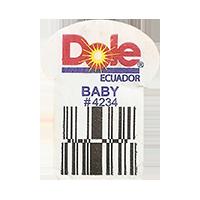Dole  BABY # 4234   22,2 x 29,8 mm paper 2016 PM Ecuador unique