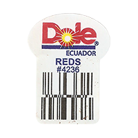 Dole  REDS #4236   22,2 x 29,8 mm paper 2016 PM Ecuador unique