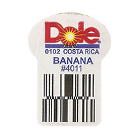 Dole BANANA 0102 #4011  0 x 0 mm paper 2017  Costa Rica unique