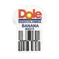 Dole 0524 BANANA # 4011  0 x 0 mm paper 2017 ML Colombia unique