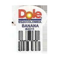 Dole 0524 BANANA # 4011  0 x 0 mm paper 2017 ML Colombia unique