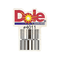 Dole  #4011  22,2 x 28,6 mm paper before 2012  Costa Rica unique