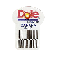 Dole  BANANA #4011  22,2 x 29,7 mm paper before 2012 Ecuador unique