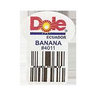 Dole  BANANA #4011  22,2 x 29,7 mm paper before 2012 Ecuador unique