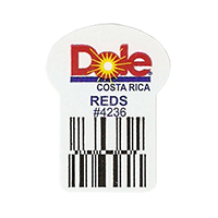 Dole REDS #4236  22,2 x 30,1 mm paper before 2012 Costa Rica unique