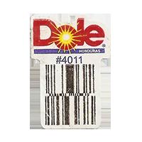 Dole  #4011  22,1 x 31,1 mm paper before 2012 Honduras unique