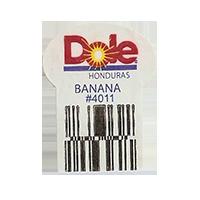 Dole BANANA #4011  22,2 x 30,1 mm paper before 2012  Honduras unique