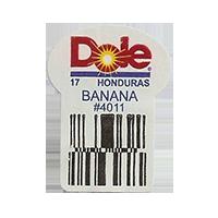 Dole 17 BANANA #4011  22,2 x 30,1 mm paper before 2012 Honduras unique