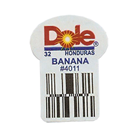 Dole 32 BANANA #4011  22,2 x 30,1 mm paper before 2012  Honduras unique